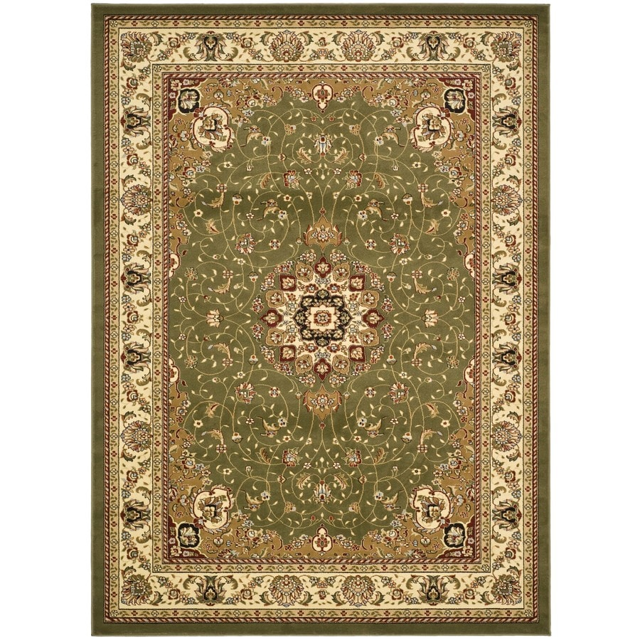 Safavieh Lyndhurst Kerman Sage/Ivory Rectangular Indoor Machine-made Oriental Area Rug (Common: 9 x 12; Actual: 8.917-ft W x 12-ft L)