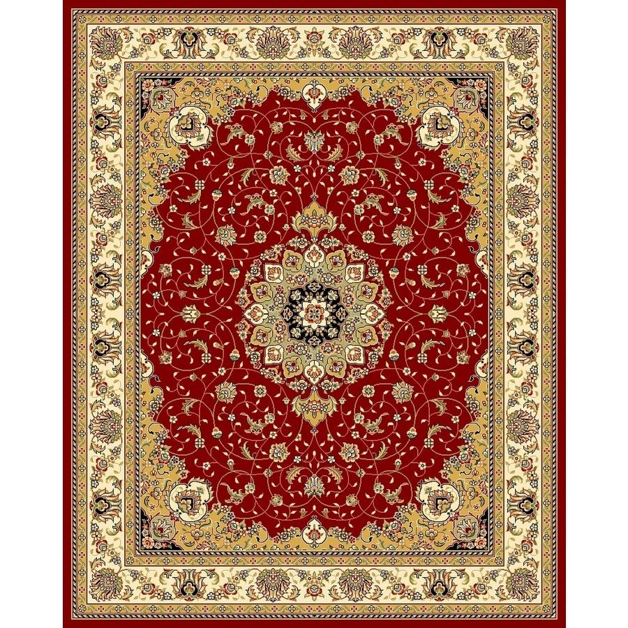 Safavieh Lyndhurst Kerman Red/Ivory Rectangular Indoor Machine-made Oriental Area Rug (Common: 9 x 12; Actual: 8.917-ft W x 12-ft L)