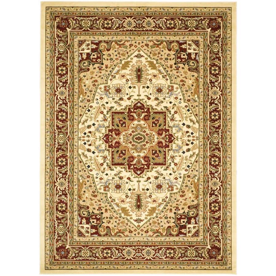 Safavieh Lyndhurst Heriz Ivory/Red Rectangular Indoor Machine-made Oriental Area Rug (Common: 9 x 12; Actual: 8.917-ft W x 12-ft L)