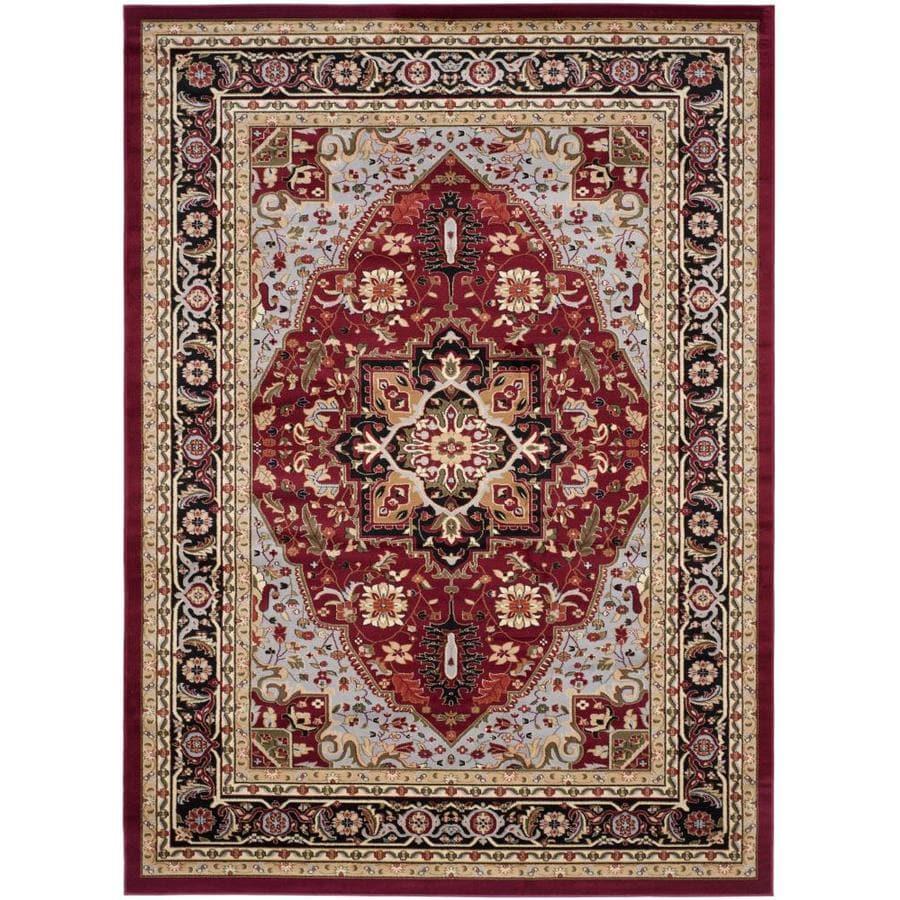 Safavieh Lyndhurst Heriz Red/Black Indoor Oriental Area Rug (Common: 9 x 12; Actual: 8.9-ft W x 12-ft L)