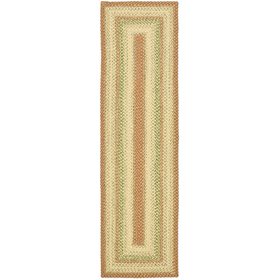 Safavieh Braided Rust and Multi Rectangular Indoor Braided Runner (Common: 2 x 10; Actual: 2.25-ft W x 10-ft L)