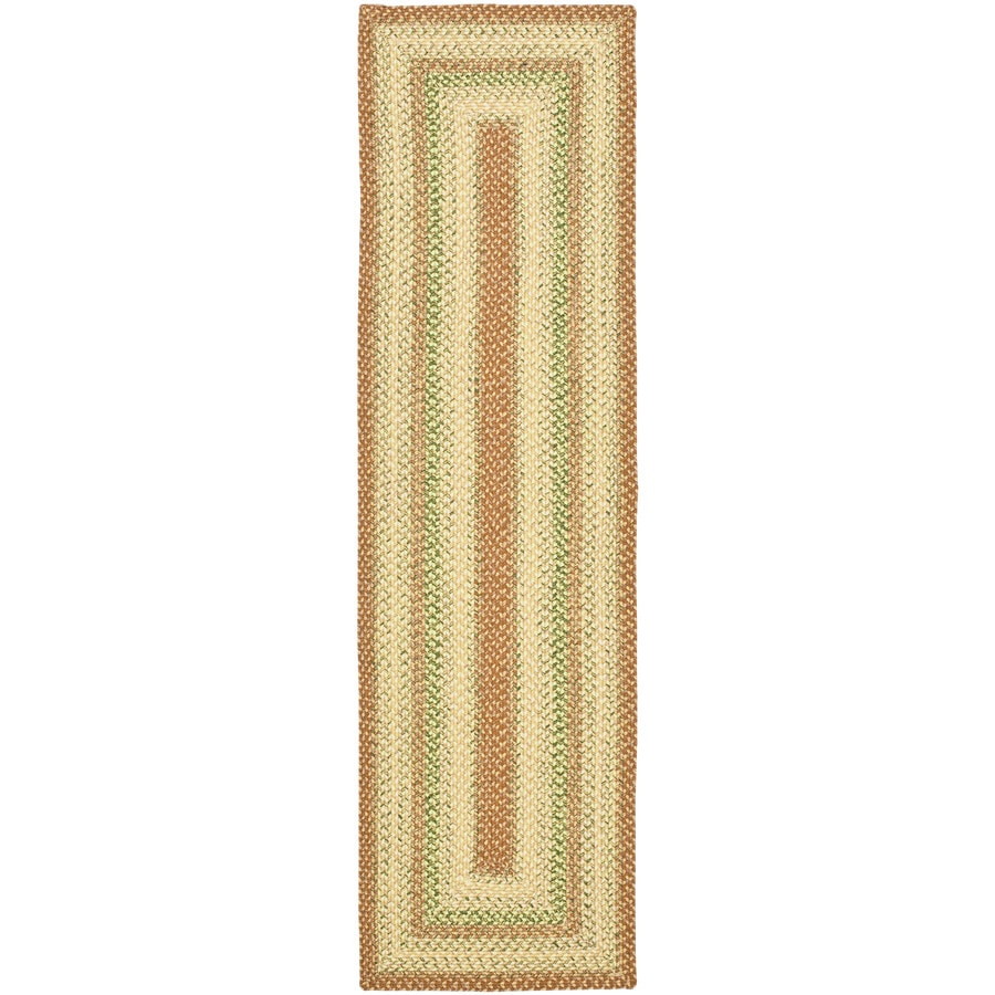 Safavieh Braided Ipswich Rust/Multi Rectangular Indoor Handcrafted Coastal Runner (Common: 2 x 6; Actual: 2.25-ft W x 6-ft L)