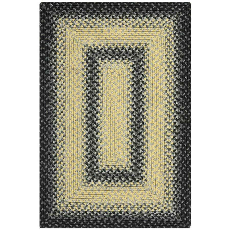 Safavieh Braided Higham Black/Gray Rectangular Indoor Handcrafted Coastal Runner (Common: 2 x 3; Actual: 2-ft W x 3-ft L)