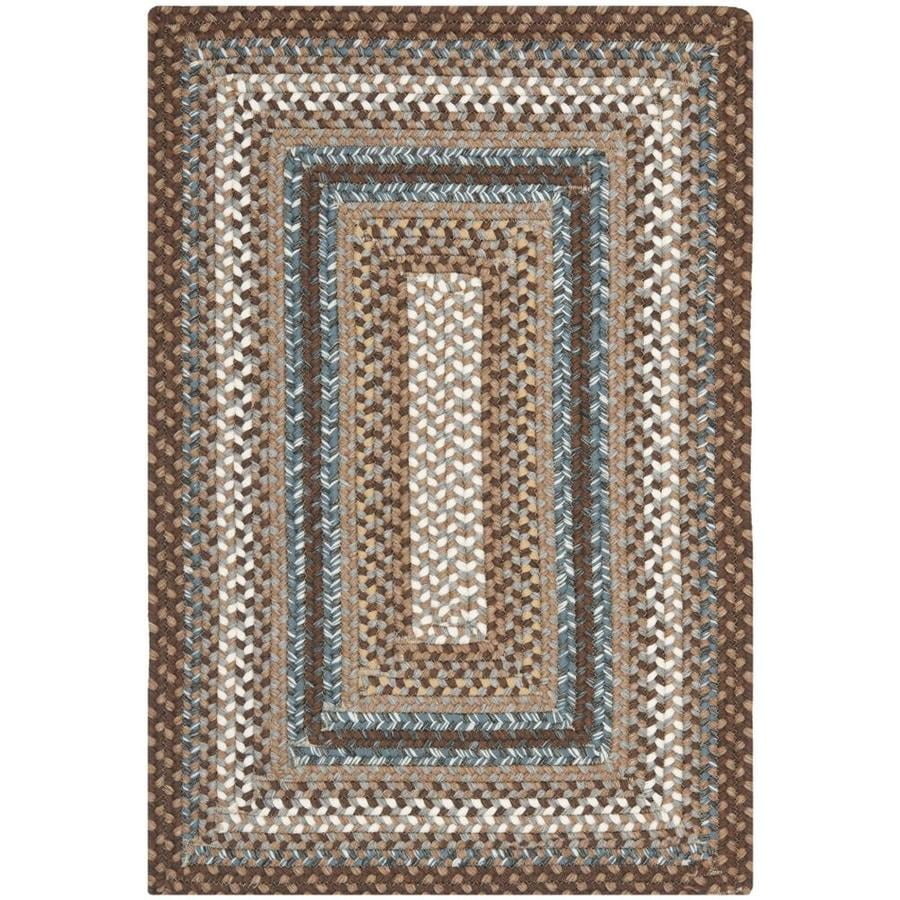 Shop safavieh braided charleston brown indoor handcrafted for Common throw rug sizes