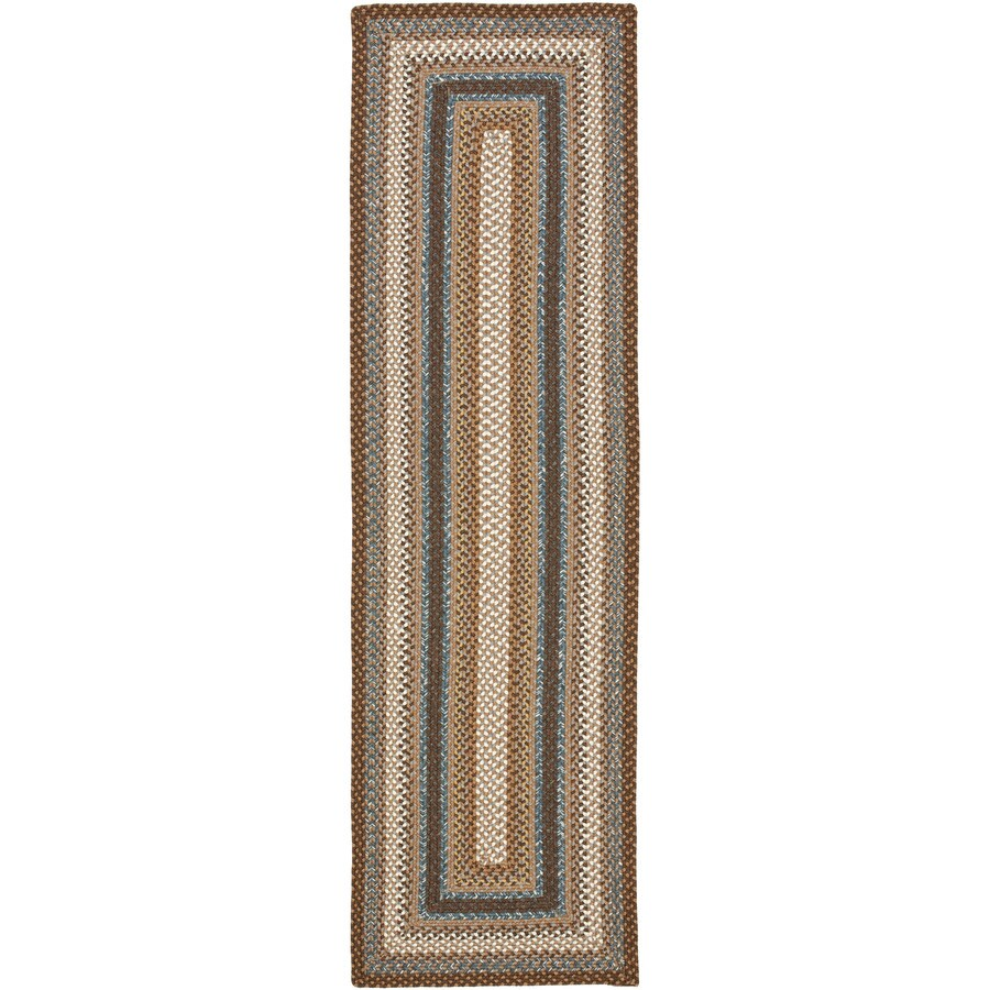 Safavieh Braided Charleston Brown/Multi Rectangular Indoor Handcrafted Coastal Runner (Common: 2 x 6; Actual: 2.25-ft W x 6-ft L)