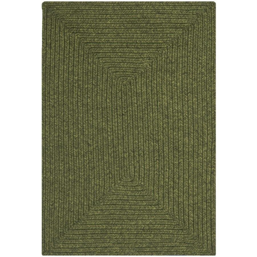Safavieh Braided Lexington Green Indoor Handcrafted Coastal Throw Rug (Common: 2 x 3; Actual: 2-ft W x 3-ft L)