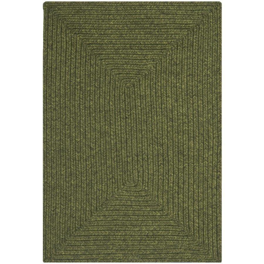 Safavieh Braided Lexington Green Rectangular Indoor Handcrafted Coastal Runner (Common: 2 x 3; Actual: 2-ft W x 3-ft L)