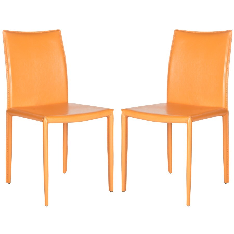 Safavieh Set of 2 Fox Orange Side Chairs