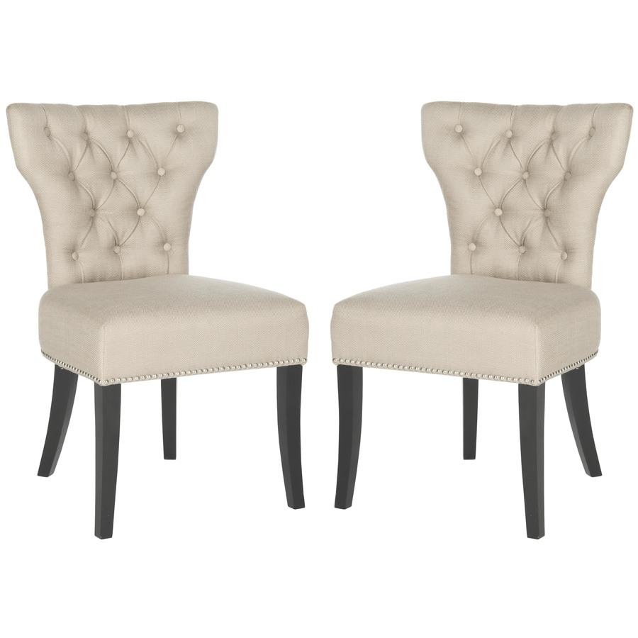 Safavieh Set of 2 Mercer Biscuit Beige Side Chairs