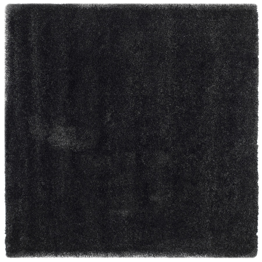 Safavieh California Shag Black Square Indoor Area Rug