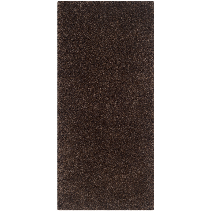 Safavieh California Shag Brown Rectangular Indoor Machine-made Throw Rug (Common: 2 x 5; Actual: 2.25-ft W x 5-ft L)