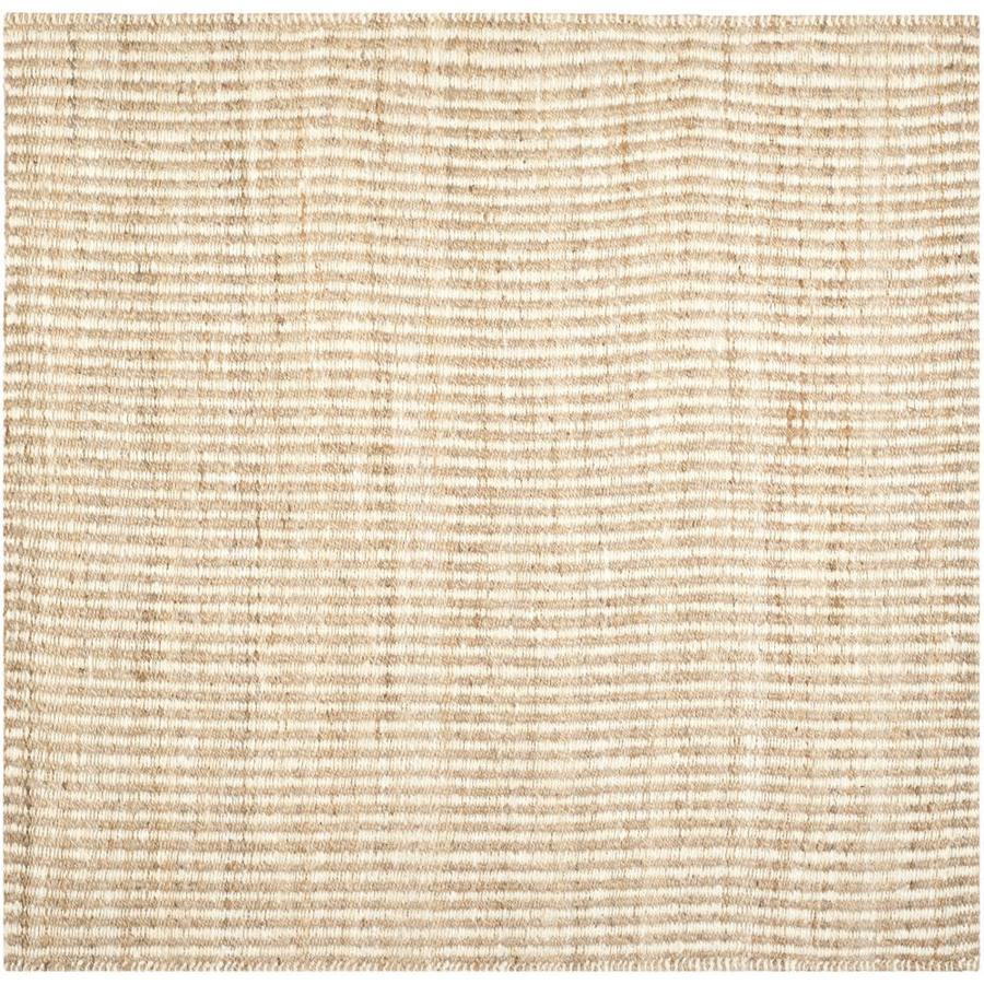 Safavieh Natural Fiber Caicos Natural/Ivory Square Indoor Handcrafted Coastal Area Rug (Common: 5 x 5; Actual: 5-ft W x 5-ft L)