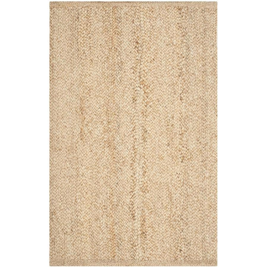 Safavieh Natural Fiber Tortola Natural Indoor Handcrafted Coastal Area Rug (Common: 4 x 6; Actual: 4-ft W x 6-ft L)