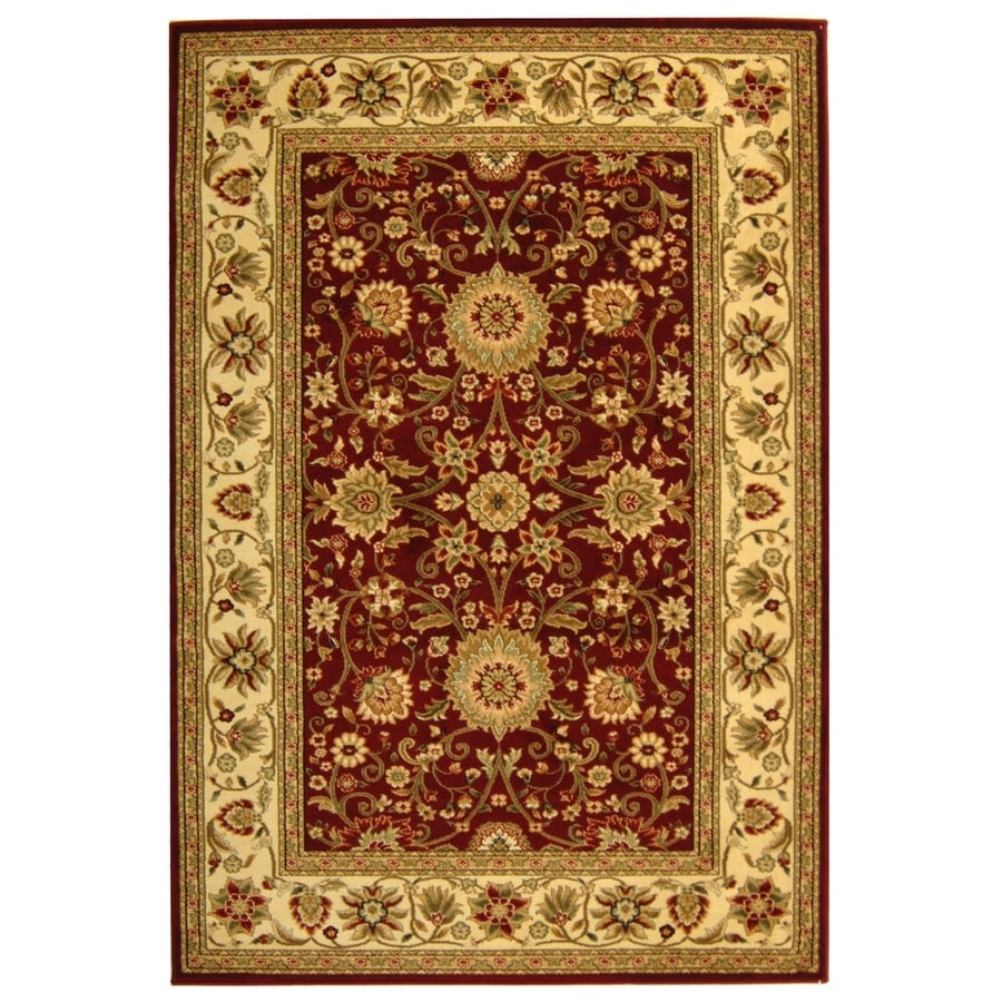 Safavieh Lyndhurst Sarouk Red/Ivory Indoor Oriental Area Rug (Common: 4 x 6; Actual: 4-ft W x 6-ft L)