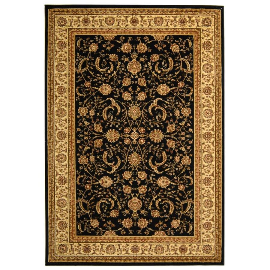 Safavieh Lyndhurst Lavar Black/Ivory Indoor Oriental Area Rug (Common: 4 x 6; Actual: 4-ft W x 6-ft L)