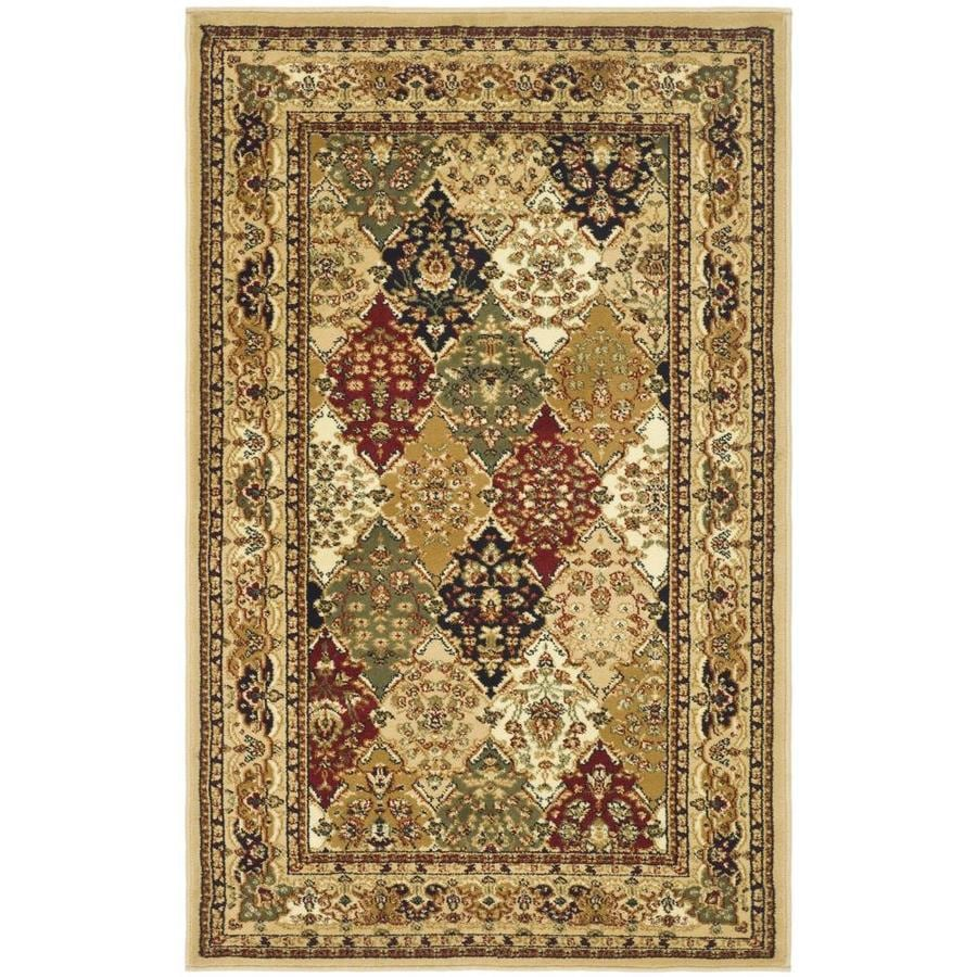 Safavieh Lyndhurst Diamond Baktiari Black Indoor Oriental Area Rug (Common: 4 x 6; Actual: 4-ft W x 6-ft L)