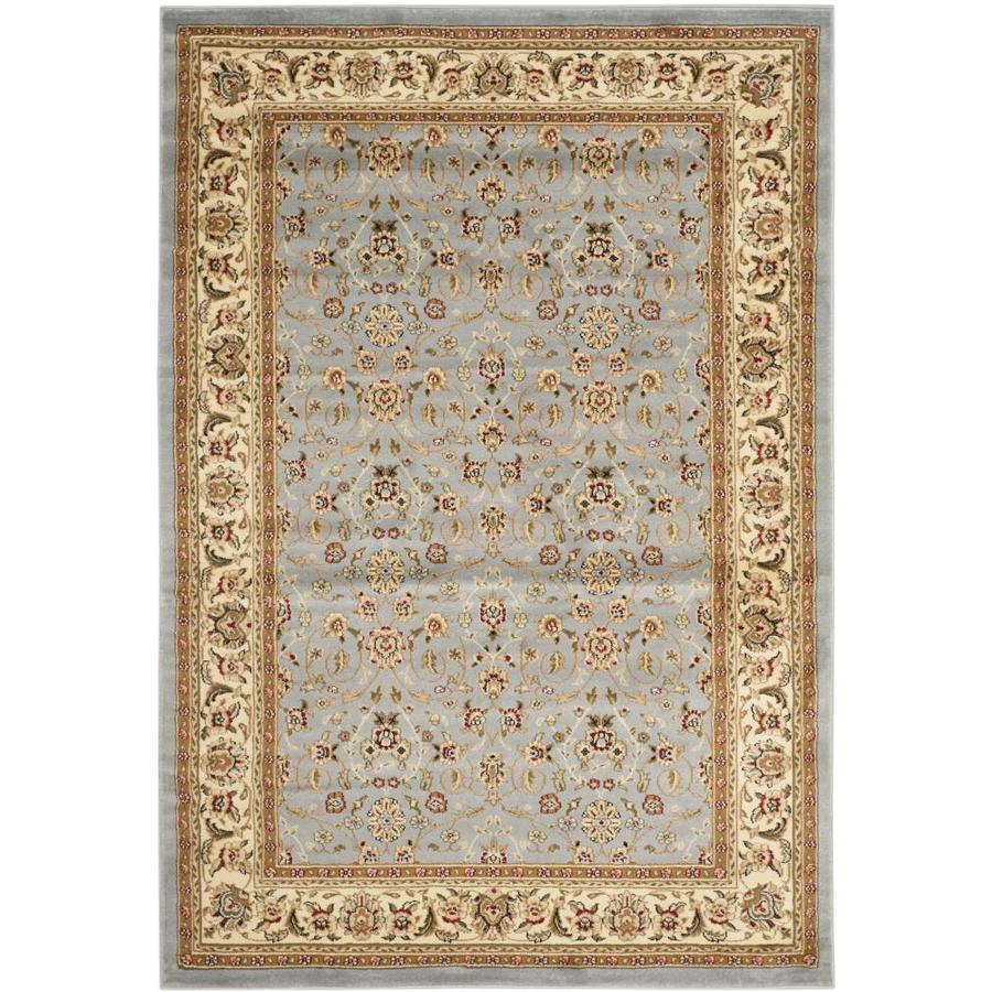 Safavieh Lyndhurst Qum Light Blue/Ivory Indoor Oriental Area Rug (Common: 4 x 6; Actual: 4-ft W x 6-ft L)