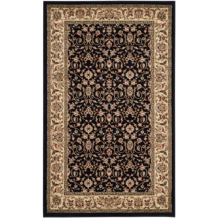 Safavieh Lyndhurst Antoinette Black/Ivory Indoor Oriental Area Rug (Common: 4 x 6; Actual: 4-ft W x 6-ft L)