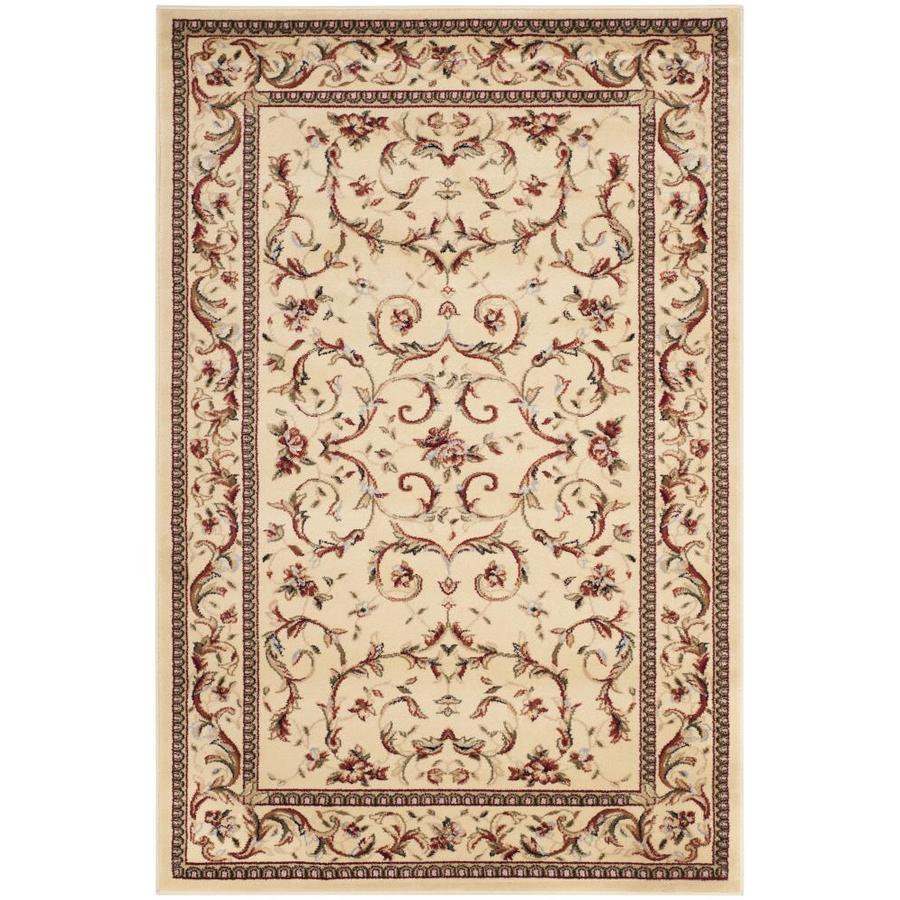 Safavieh Lyndhurst Lyon Ivory Indoor Oriental Area Rug (Common: 4 x 6; Actual: 4-ft W x 6-ft L)