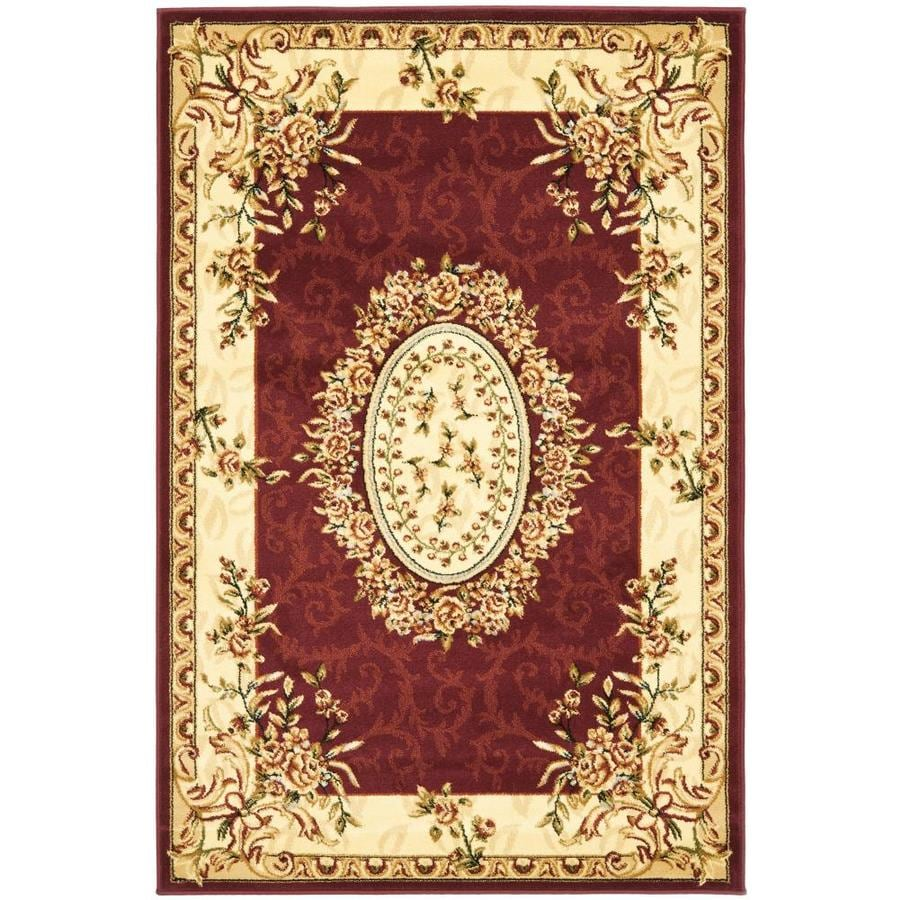 Safavieh Lyndhurst Grandour Red/Ivory Indoor Oriental Area Rug (Common: 4 x 6; Actual: 4-ft W x 6-ft L)