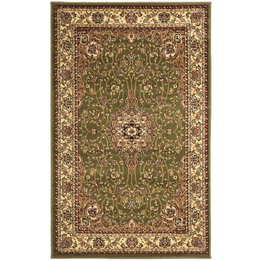 Safavieh Lyndhurst Kerman Sage/Ivory Indoor Oriental Area Rug (Common: 4 x 6; Actual: 4-ft W x 6-ft L)
