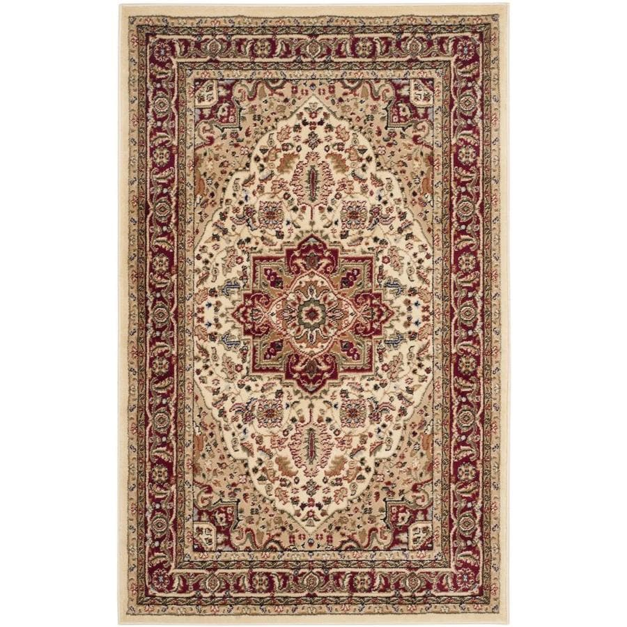 Safavieh Lyndhurst Rectangular Cream Transitional Woven Area Rug (Common: 4-ft x 6-ft; Actual: 4-ft x 6-ft)