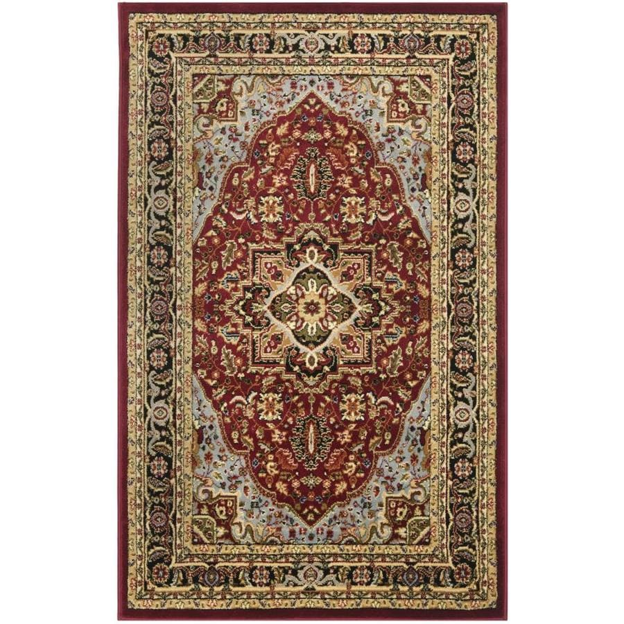 Safavieh Lyndhurst Heriz Red/Black Indoor Area Rug (Common