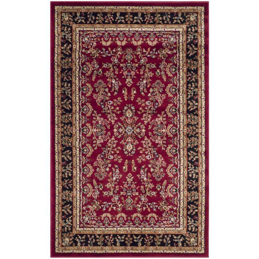 Safavieh Lyndhurst Hamadan Red/Black Indoor Oriental Area Rug (Common: 4 x 6; Actual: 4-ft W x 6-ft L)