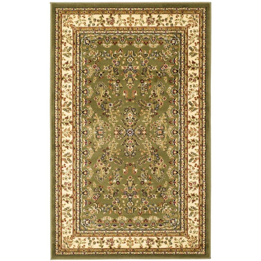 Safavieh Lyndhurst Hamadan Sage/Ivory Rectangular Indoor  Oriental Area Rug (Common: 4 x 6; Actual: 4-ft W x 6-ft L)