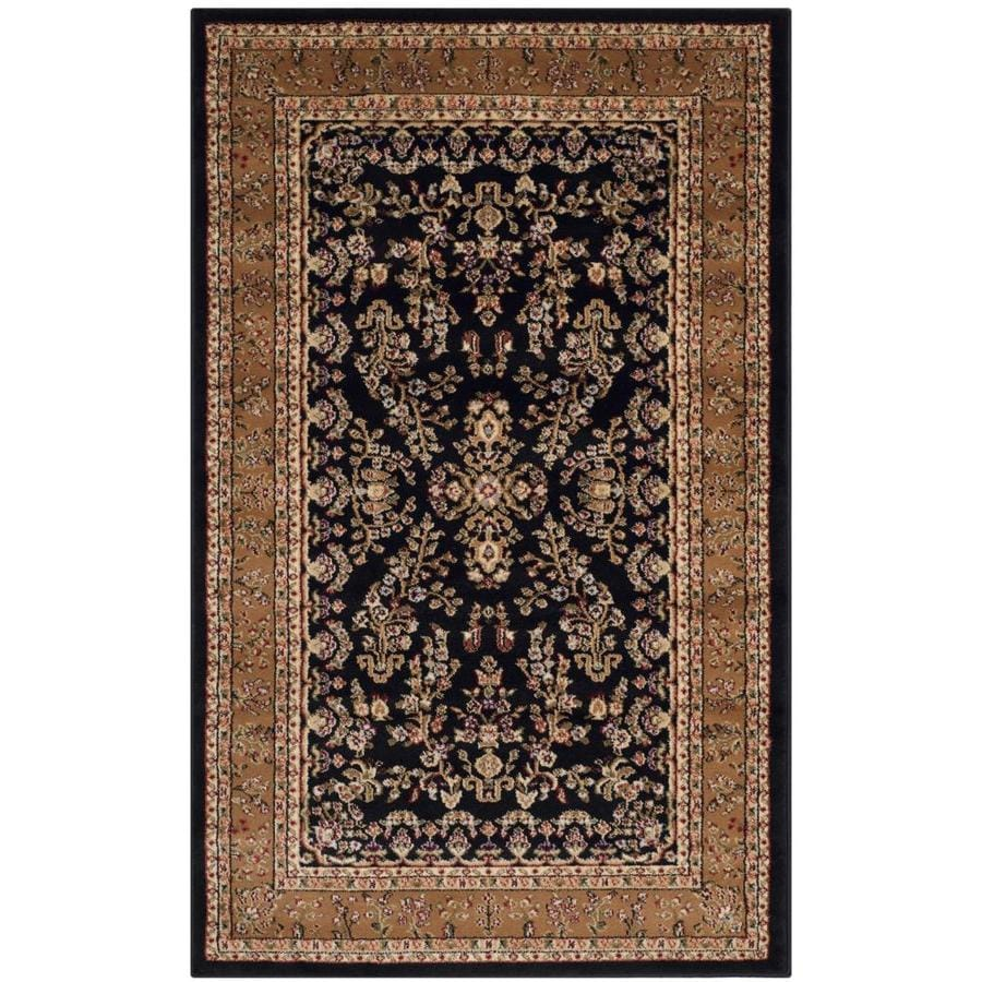 Safavieh Lyndhurst Hamadan Black/Tan Rectangular Indoor Machine-made Oriental Area Rug (Common: 4 x 6; Actual: 4-ft W x 6-ft L)