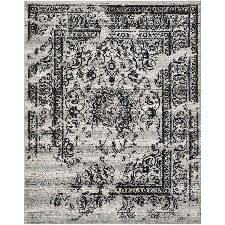 Safavieh Adirondack Plaza Silver/Black Rectangular Indoor Machine-made Lodge Area Rug (Common: 11 x 13; Actual: 11-ft W x 15-ft L)