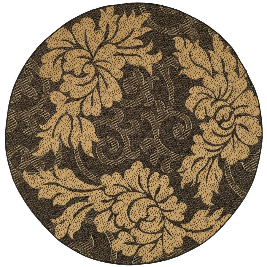 Shop Safavieh Courtyard Catto Black Natural Round Indoor