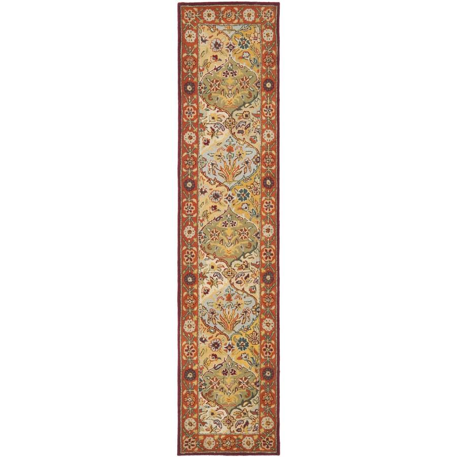 Safavieh Heritage Baktiari Red Indoor Handcrafted Oriental Runner (Common: 2 x 16; Actual: 2.25-ft W x 16-ft L)