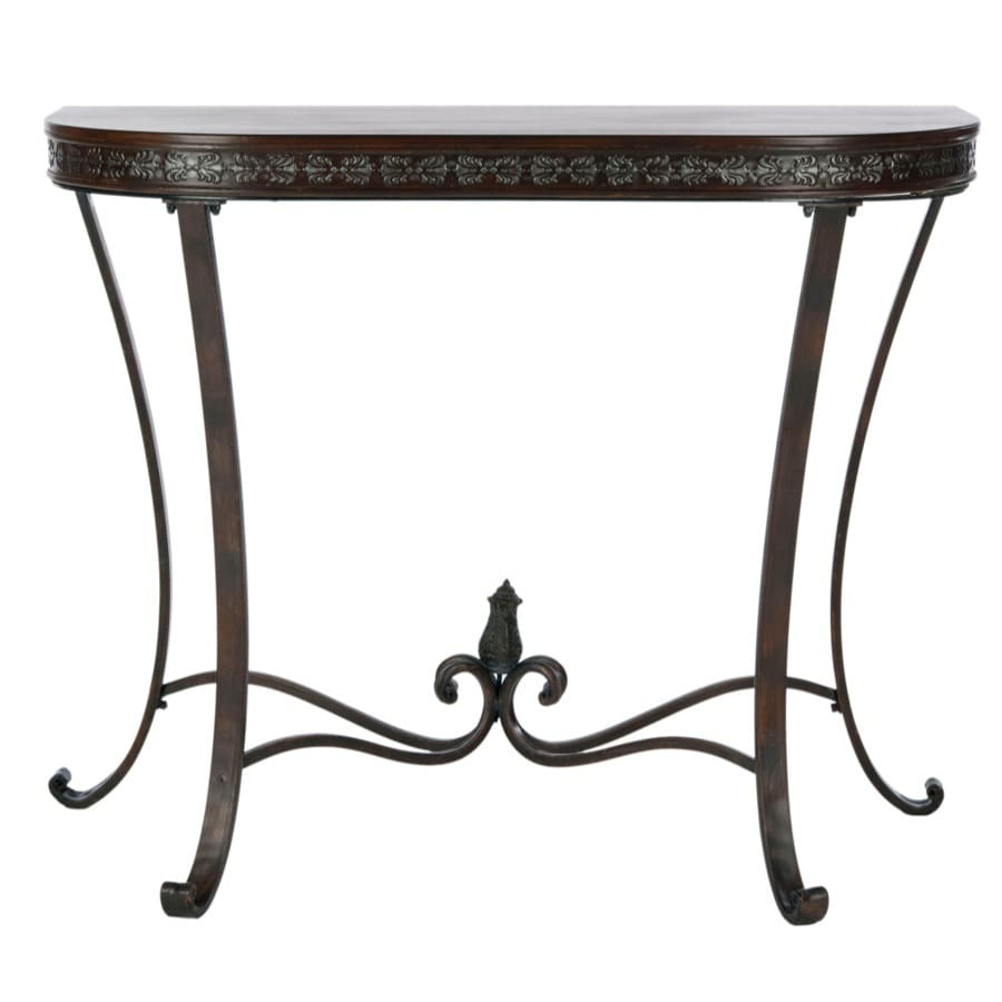 Safavieh American Home Brown Birch Half Round Console And Sofa Table