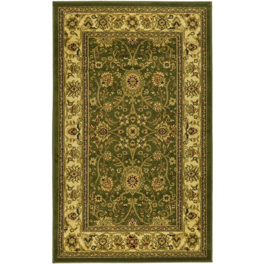 Safavieh Lyndhurst Sarouk Sage/Ivory Rectangular Indoor Machine-made Oriental Area Rug (Common: 4 x 6; Actual: 4-ft W x 6-ft L)