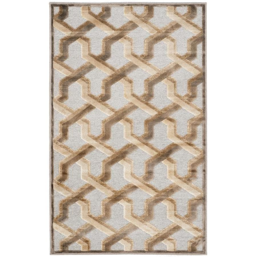 Safavieh Paradise Graham Mouse Indoor Distressed Throw Rug (Common: 2 x 4; Actual: 2.6-ft W x 4-ft L)