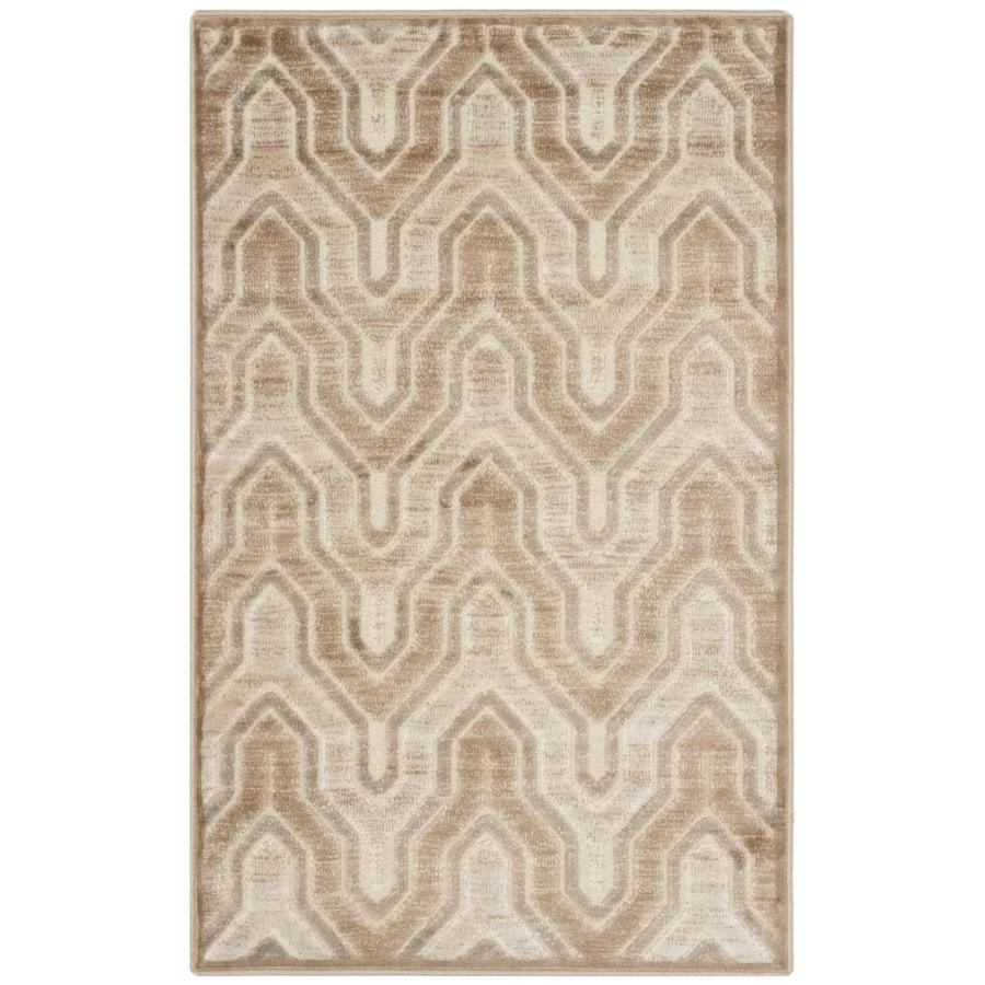 Safavieh Paradise Jasper Caramel/Cream Rectangular Indoor Machine-made Distressed Throw Rug (Common: 2 x 4; Actual: 2.583-ft W x 4-ft L)
