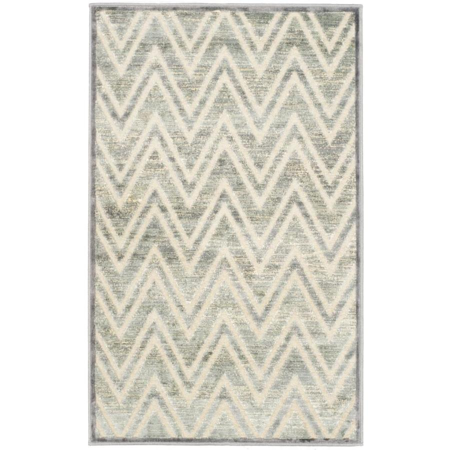 Safavieh Paradise Orion Gray Indoor Distressed Throw Rug (Common: 2 x 4; Actual: 2.6-ft W x 4-ft L)