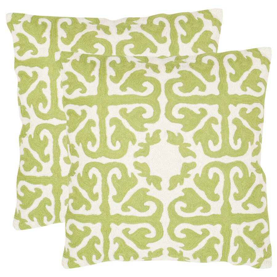 Safavieh Moroccan 2-Piece 18-in W x 18-in L Lime/Green Indoor Decorative Pillows