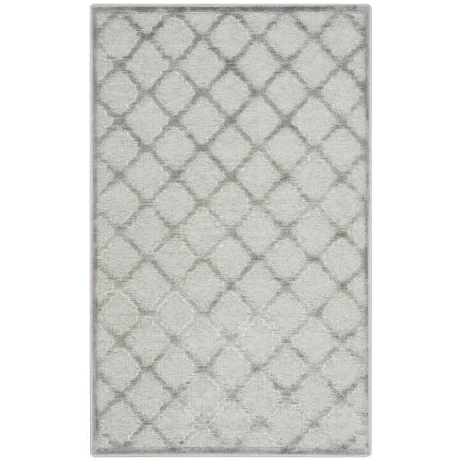 Safavieh Paradise Myles Gray/Spruce Indoor Distressed Throw Rug (Common: 2 x 4; Actual: 2.6-ft W x 4-ft L)