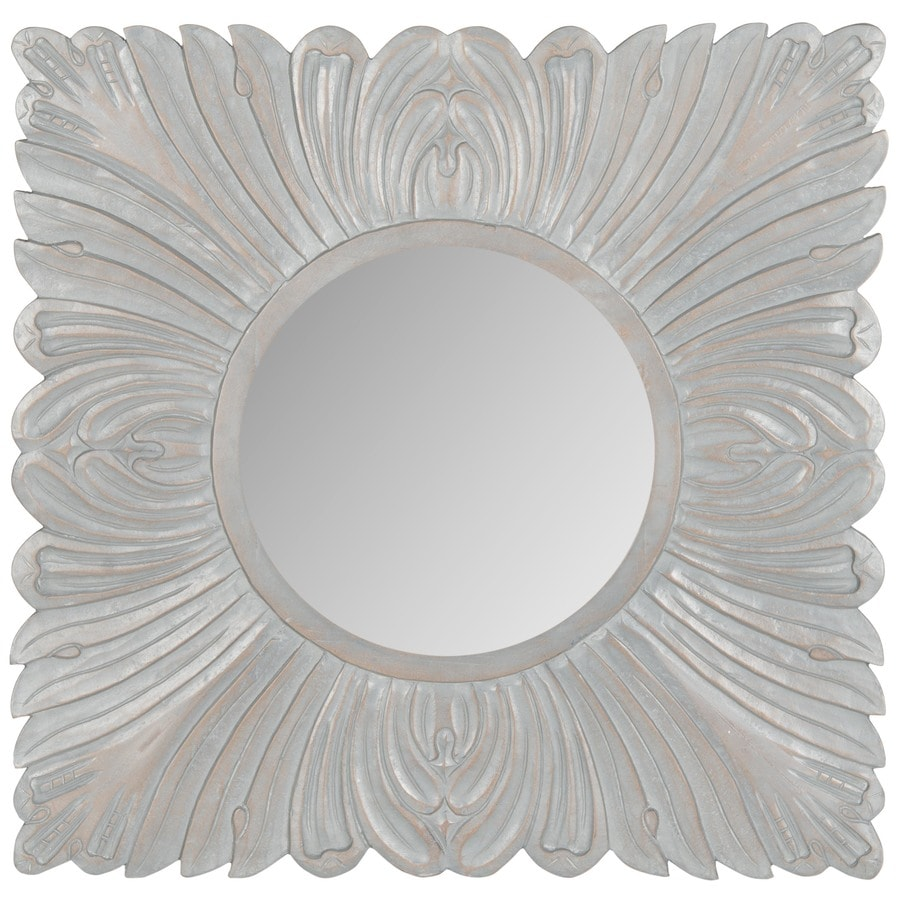 Safavieh 28-in x 28-in Grey Polished Square Framed Transitional Wall Mirror