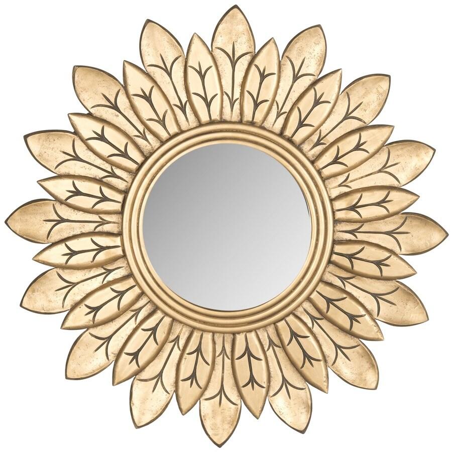 Safavieh Sun King Gold Polished Round Wall Mirror