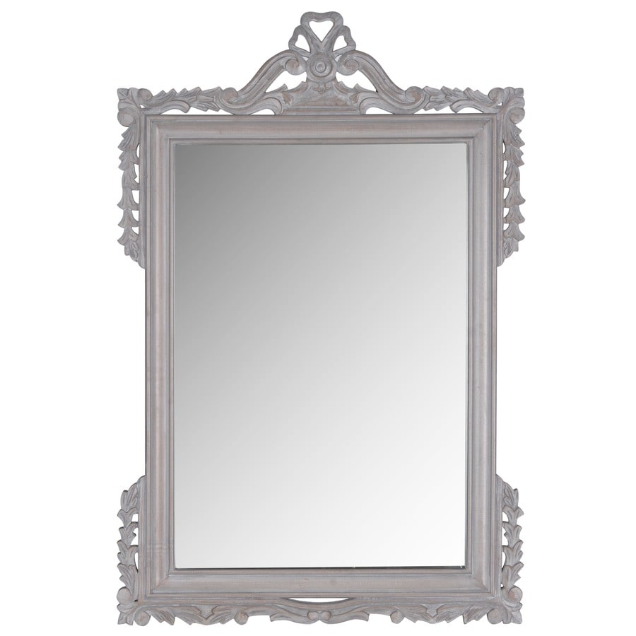 Safavieh Pedimint Gray Polished Wall Mirror