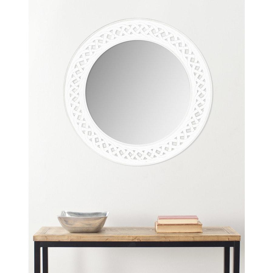 Safavieh Braided Chain White Framed Round Wall Mirror