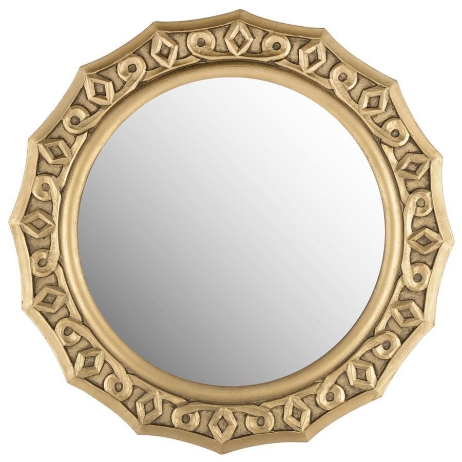 Safavieh Gossamer Lace Gold Polished Round Wall Mirror