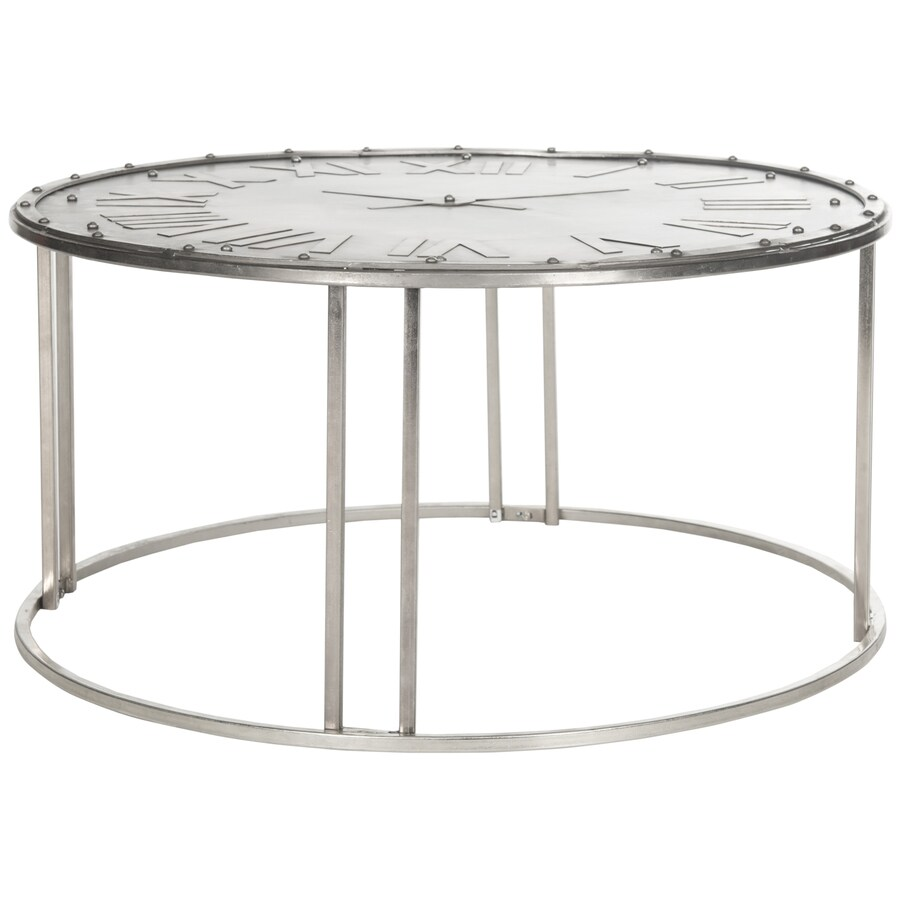 Shop Safavieh Roman Metal Round Coffee Table At