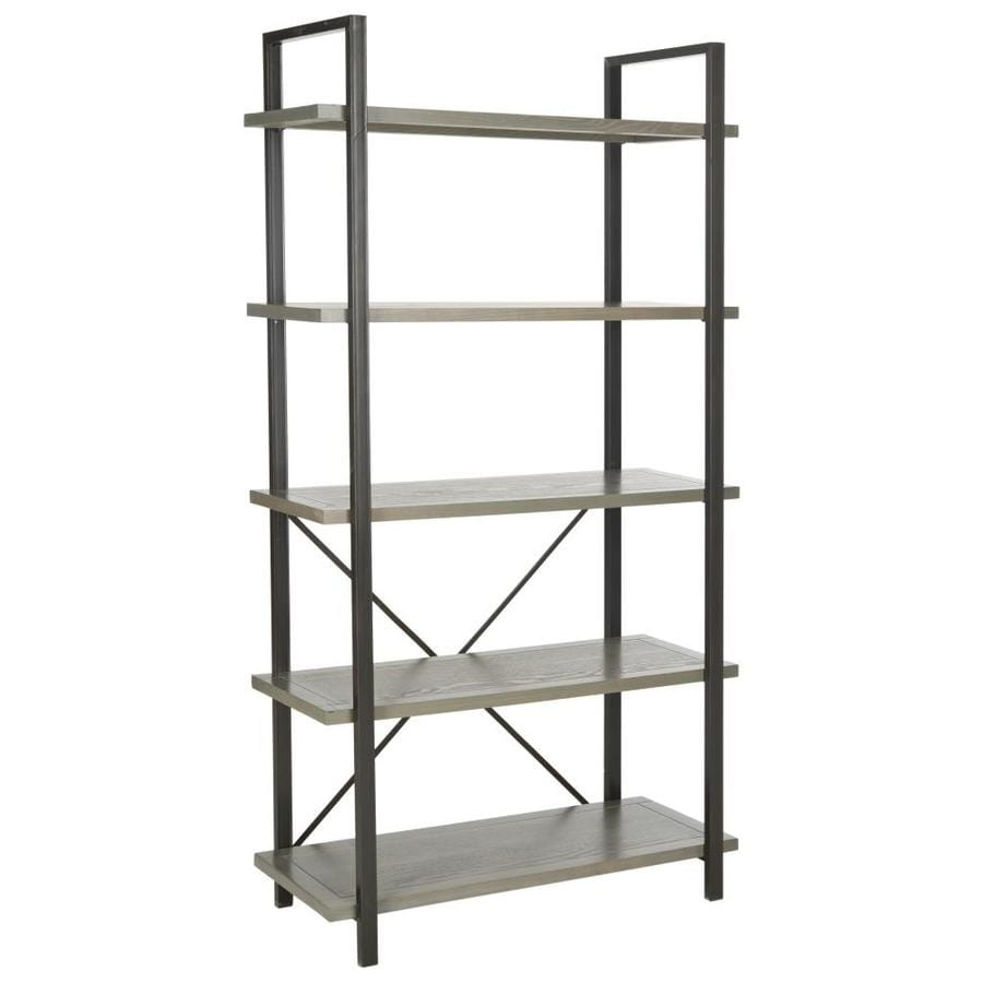 Safavieh American Home French Gray 33.7-in W x 65-in H x 14.5-in D 5-Shelf Bookcase