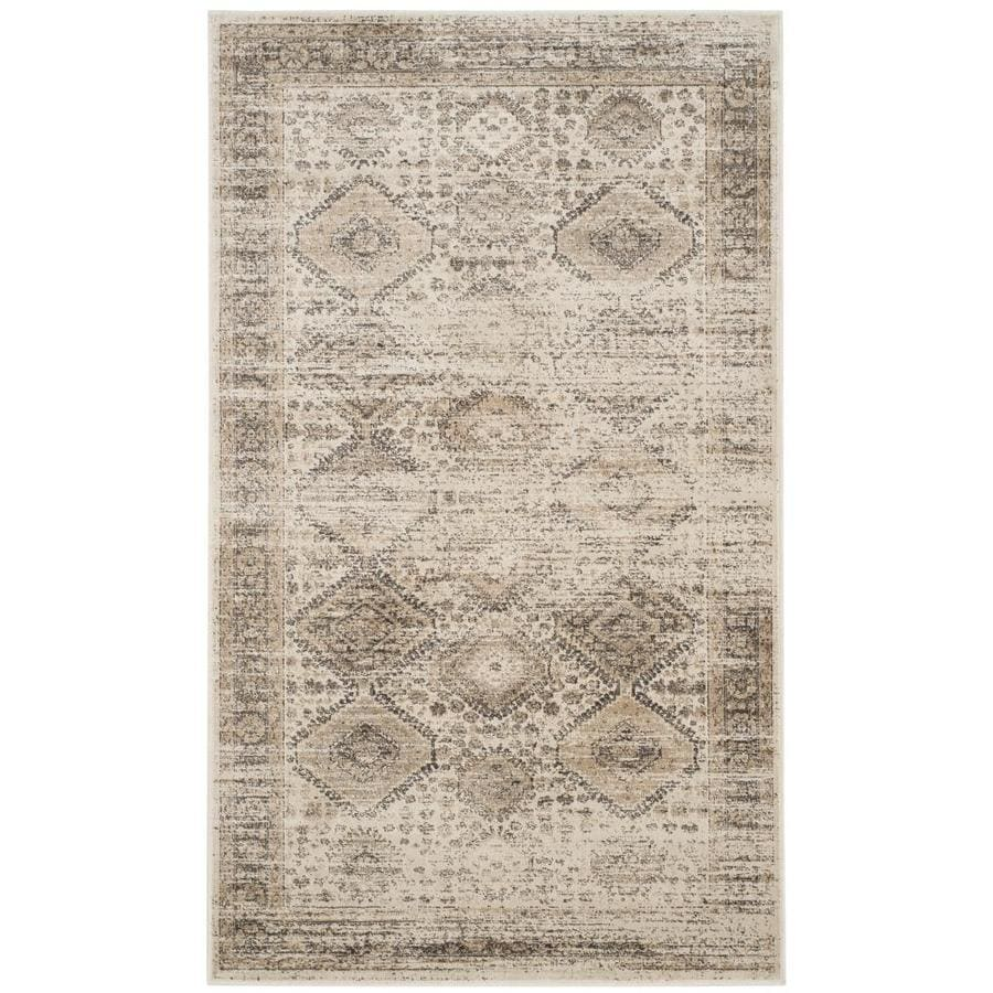 Safavieh Vintage Gul Stone Rectangular Indoor Machine-made Distressed Area Rug (Common: 4 x 6; Actual: 4-ft W x 5.6-ft L)