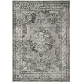 Safavieh Vintage Kerman Gray Indoor Distressed Area Rug (Common: 10 x 14; Actual: 10-ft W x 14-ft L)