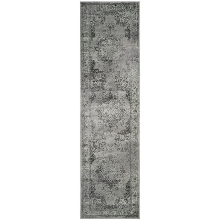 Safavieh Vintage Kerman Gray/Multi Rectangular Indoor Machine-made Distressed Runner (Common: 2 x 14; Actual: 2.2-ft W x 14-ft L)